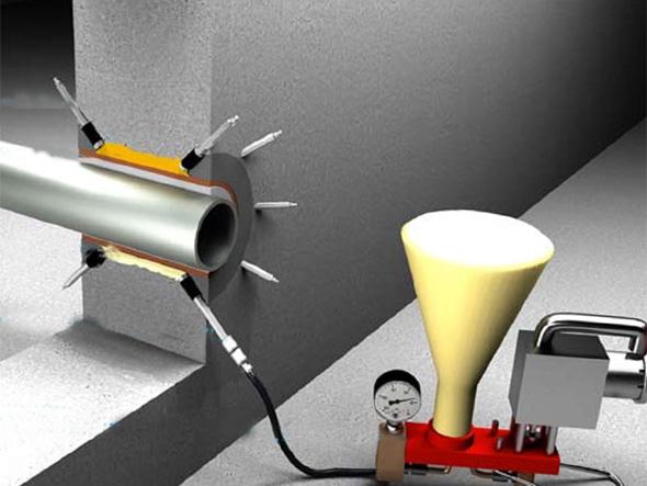 Гидроизоляция телефонного ввода с иллюстрациями декоративный наливной пол в херсоне